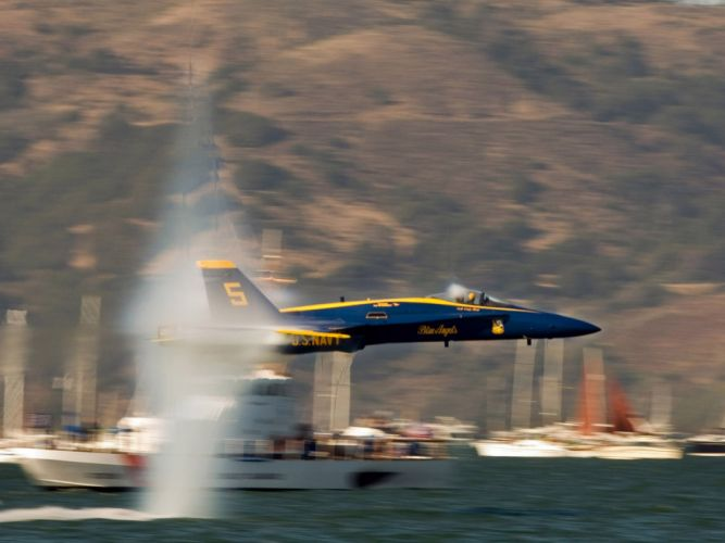 aircraft military US Navy blue angels F18 Hornet wallpaper