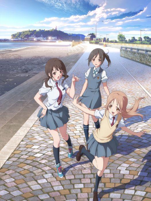 anime anime girls Tari Tari Miyamoto Konatsu Okita Sawa  Sakai Wakana wallpaper