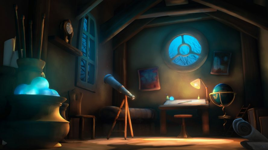 room fantasy art wallpaper