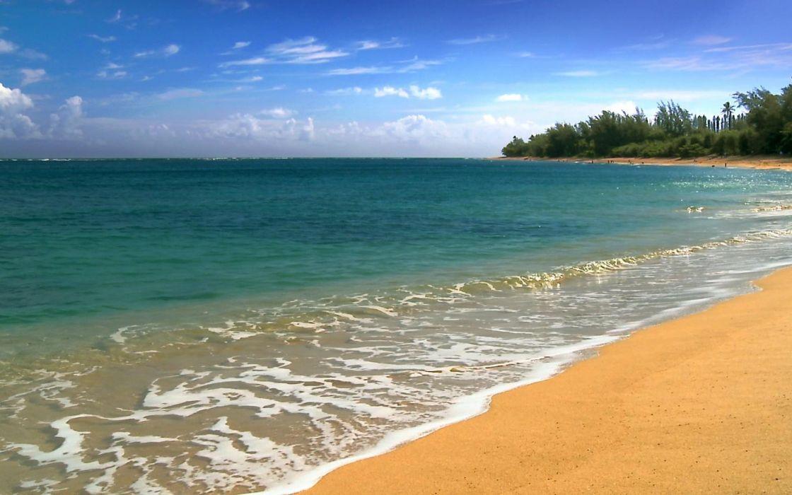 landscapes nature Hawaii five cities beaches wallpaper