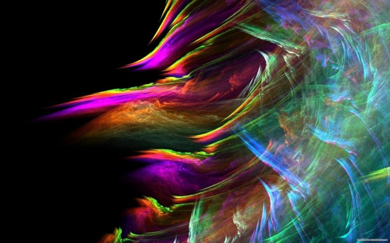 abstract multicolor waves design artwork colors wallpaper