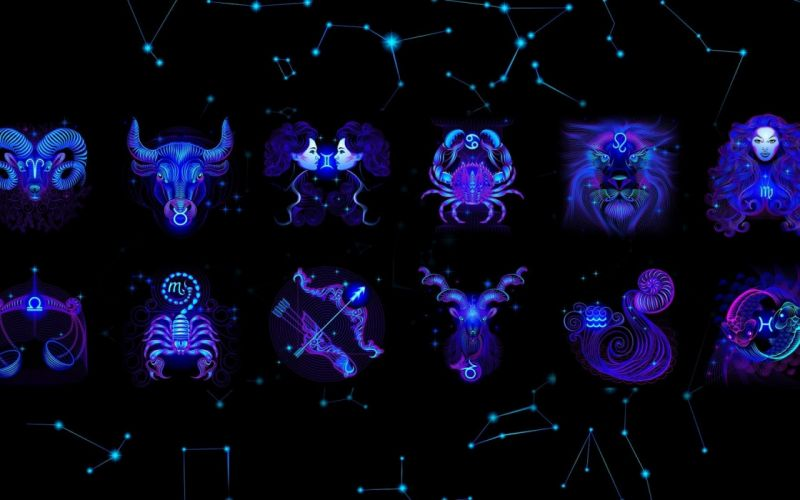 abstract blue zodiac Capricorn Capricorn Zodiac Aries wallpaper