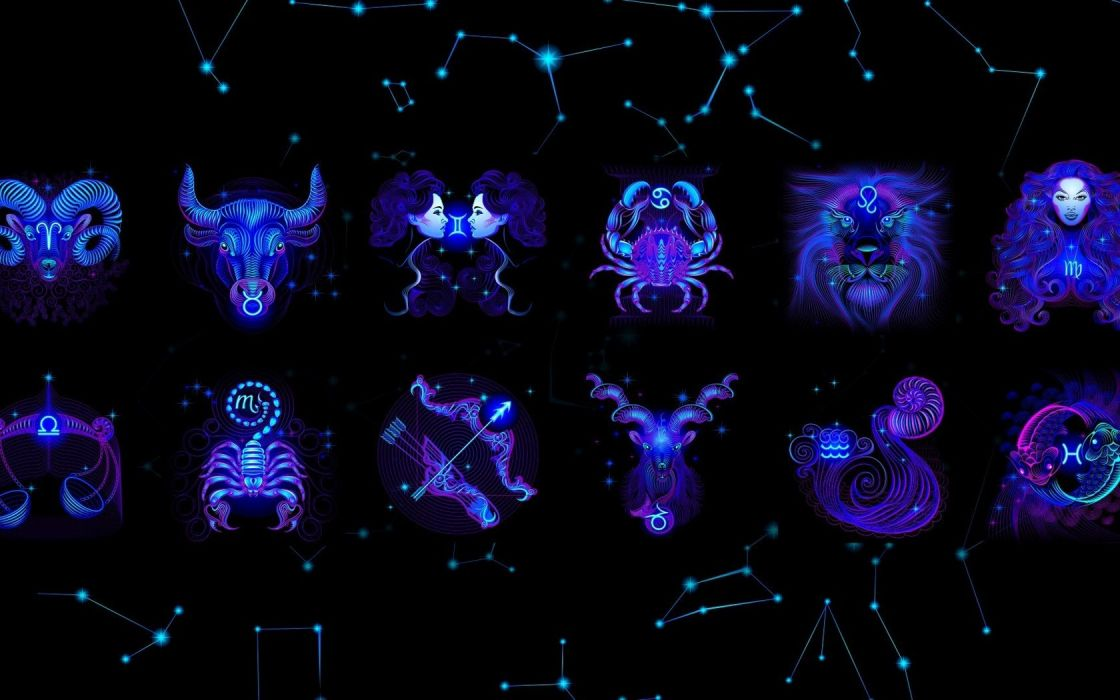 abstract blue zodiac Capricorn Capricorn Zodiac Aries wallpaper
