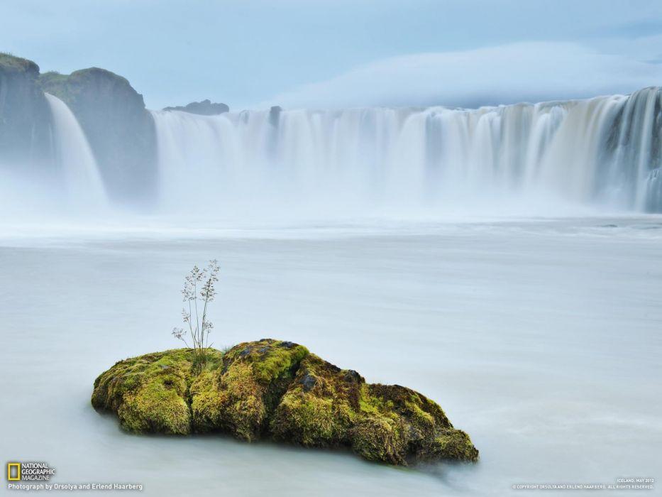 landscapes Earth glacier torrent National Geographic wallpaper