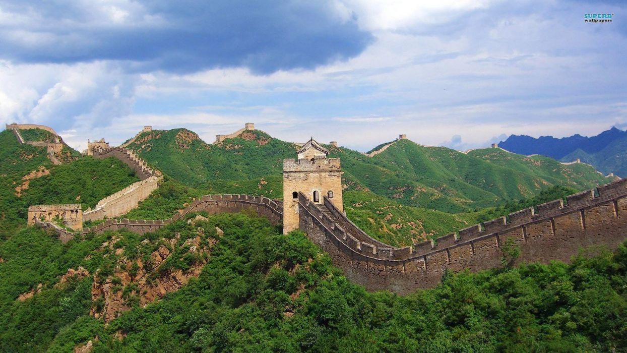 cityscapes Great Wall of China wallpaper