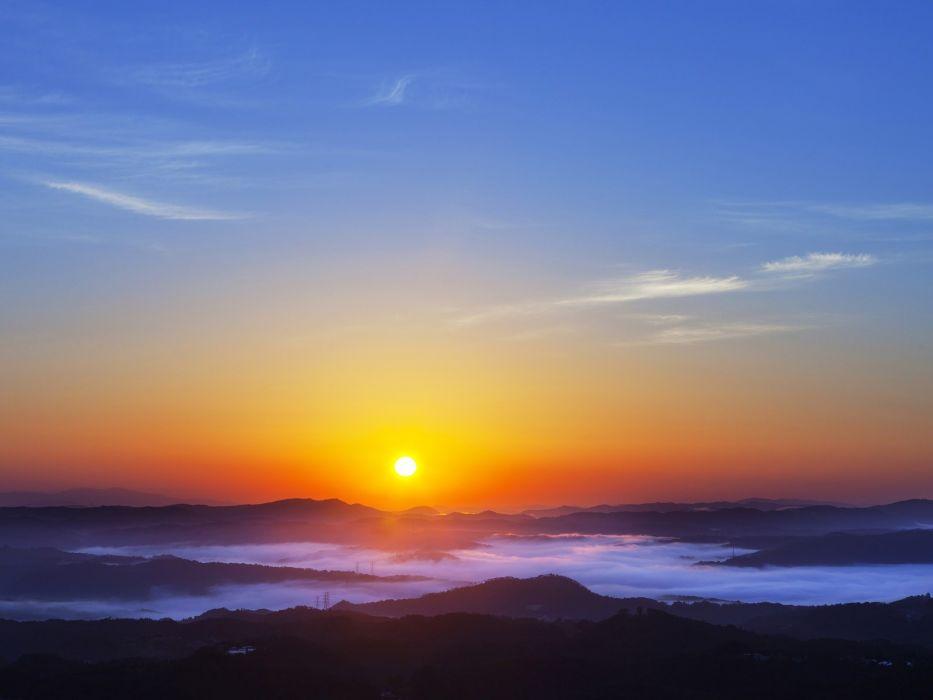 sunrise landscapes nature wallpaper