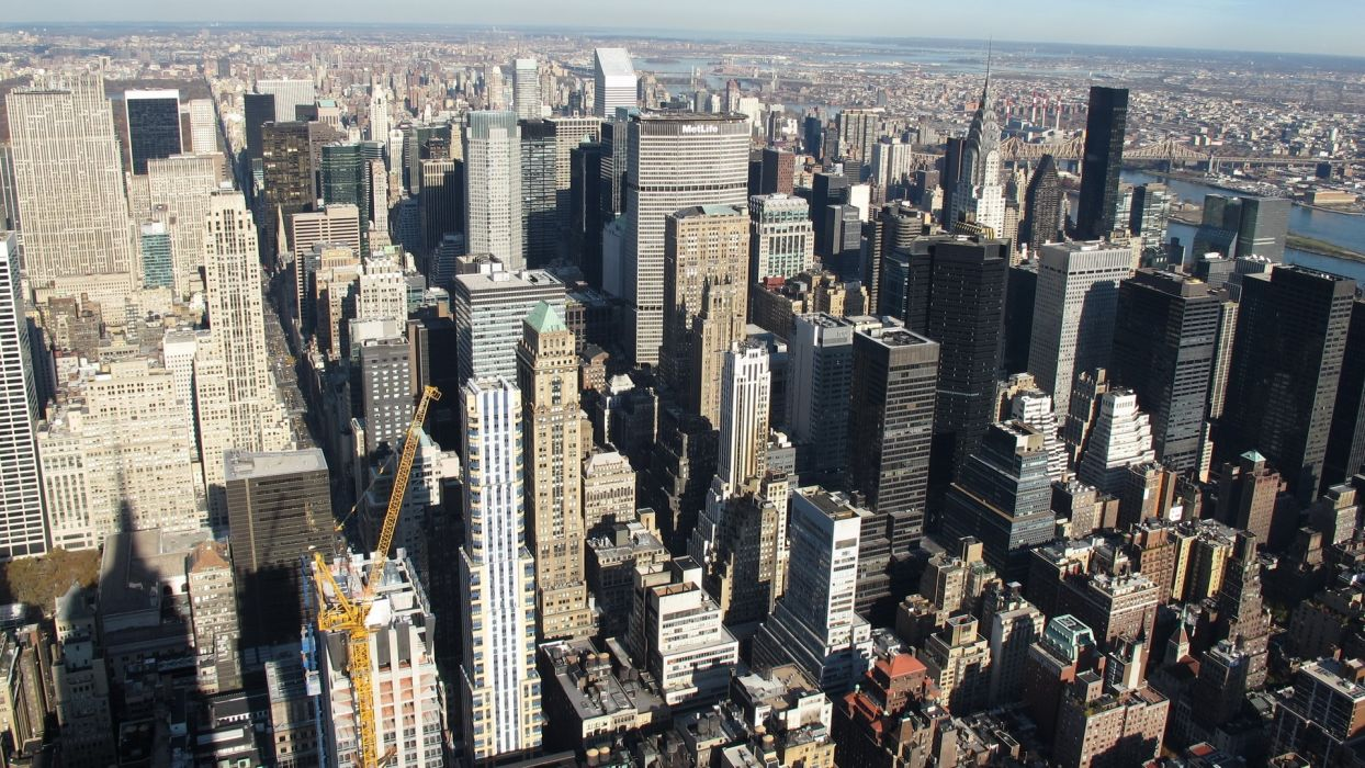landscapes cityscapes USA New York City Manhattan Empire State Building skyscapes wallpaper