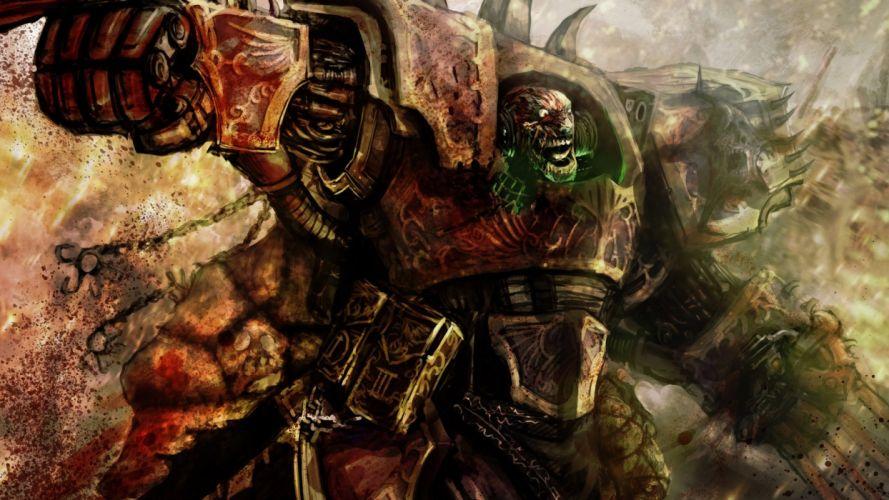 artwork chaos space marine Warhammer 40k wallpaper