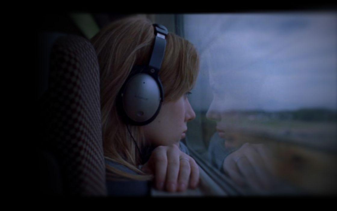 headphones Scarlett Johansson movies actress screenshots Lost in Translation wallpaper