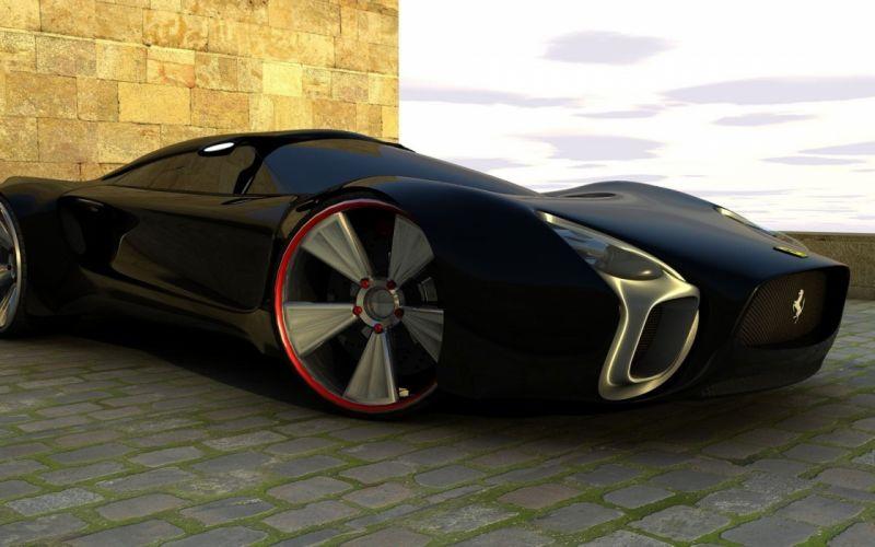 cars Ferrari concept cars wallpaper