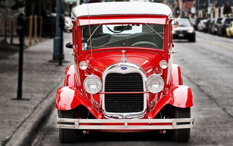 old cars Ford vehicles red cars wallpaper