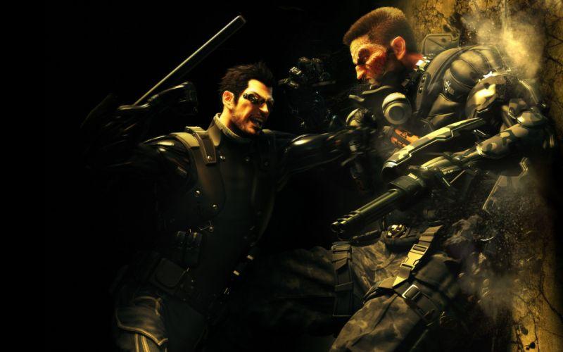 video games fight Deus Ex revolution RPG human Deus Ex: Human Revolution Adam Jensen Shades wallpaper