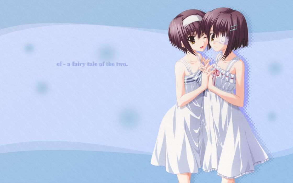 short hair Ef - A Tale Of Memories anime girls wallpaper