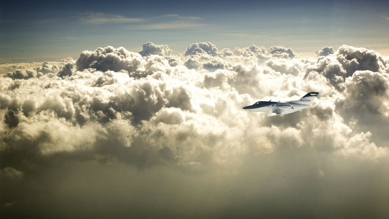 clouds aircraft flight skyscapes wallpaper