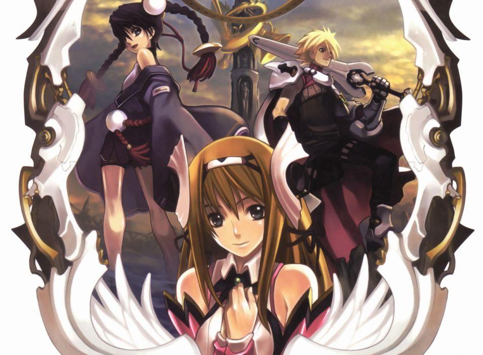 Ar Tonelico anime boys Nagi anime girls Misha Arsellec Lune Aurica Nestmile wallpaper