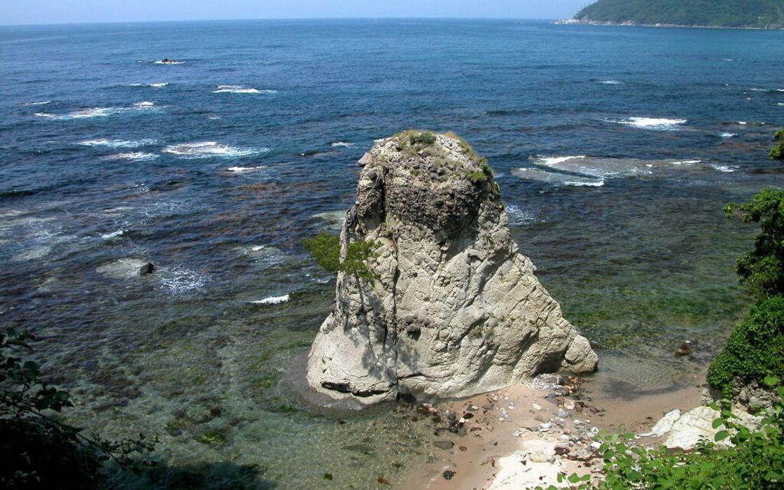 Japan landscapes rocks wallpaper