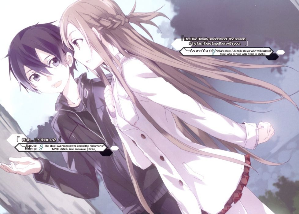 anime anime girls Sword Art Online Yuuki Asuna abec (Artist) wallpaper