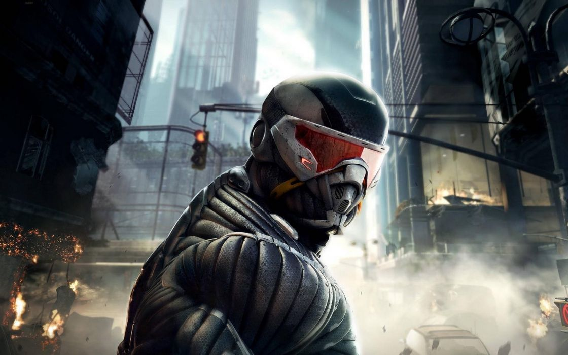 Crysis 2 explosion games Power Armor wallpaper
