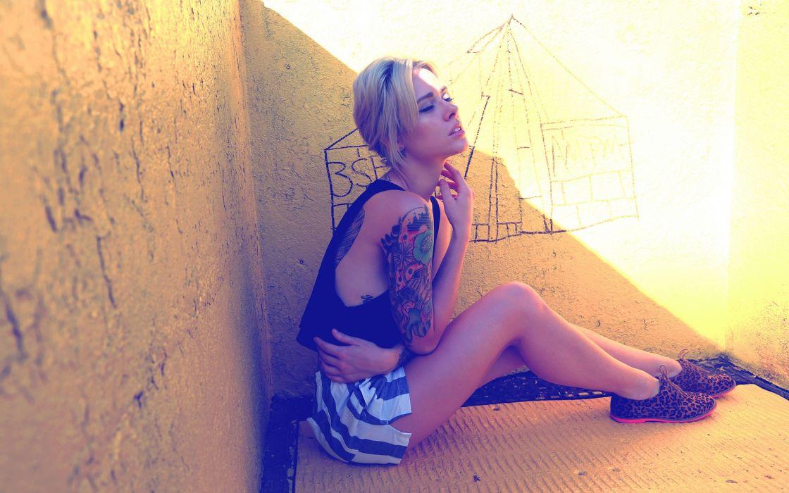 Alysha Nett Blonde Tattoos wallpaper