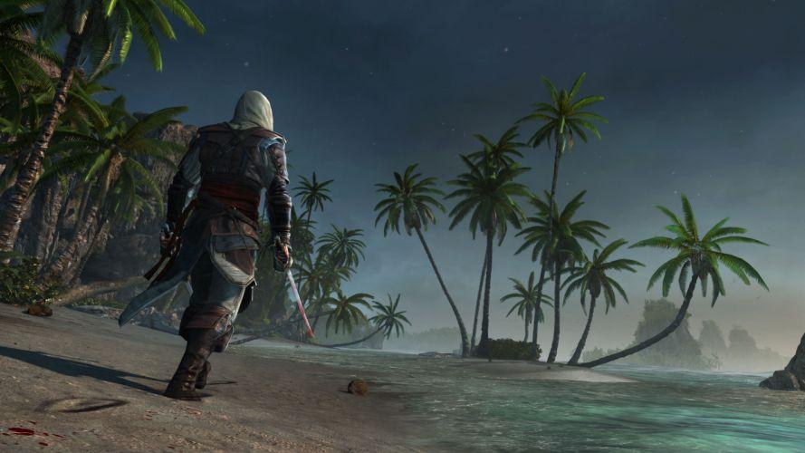 Assassins Creed 4 Black Flag Warrior Tropics Palma fantasy wallpaper