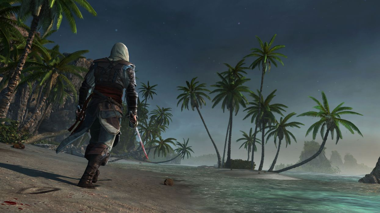 Assassins Creed 4 Black Flag Warrior Tropics Palma fantasy wallpaper