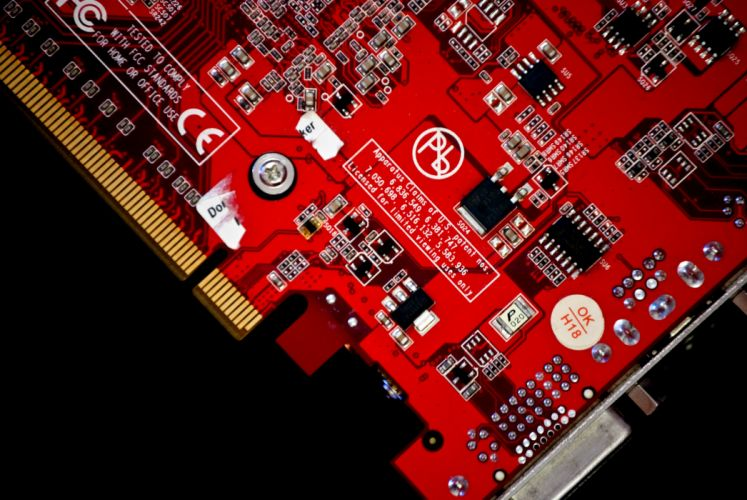 Ati Radeon Closeup Video card Computer wallpaper