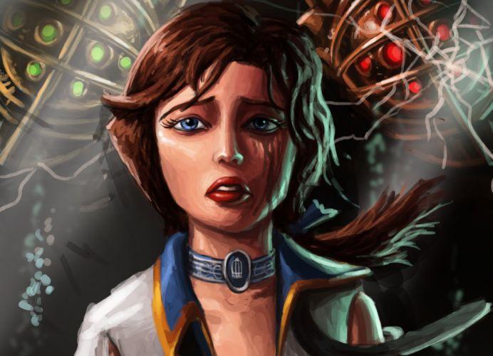 BioShock Infinite Painting Art Elizabeth Games Girls wallpaper