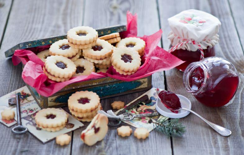 biscuits jam keys still life cake dessert wallpaper