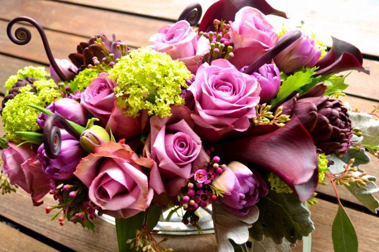 Bouquet Rose wallpaper