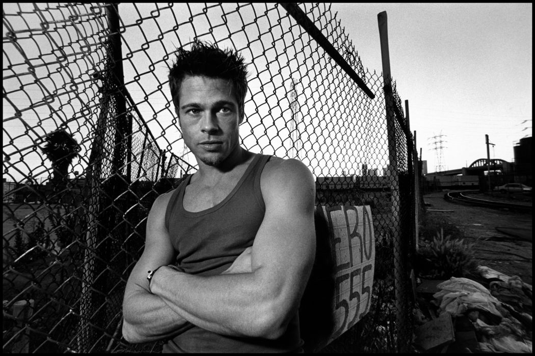 Brad Pitt Men Singlet Fence Celebrities wallpaper