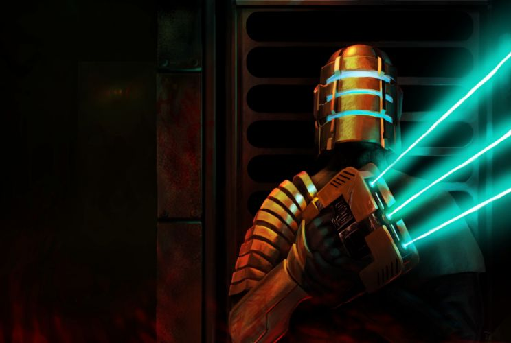 Dead Space Warrior Armor Helmet Games sci-fi wallpaper