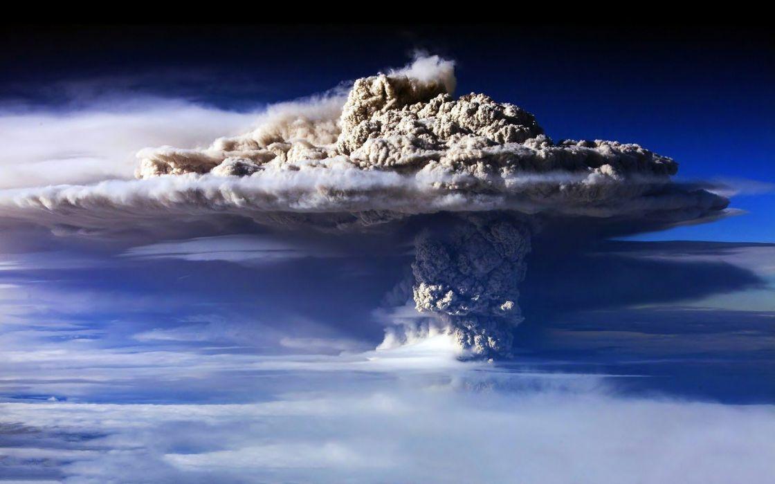 element smoke ash cloud volcano mountain wallpaper