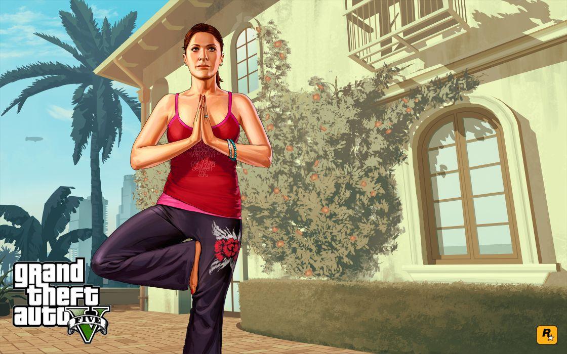 Grand Theft Auto ( GTA ) GTA 5 Vector Graphics Singlet Games Girls wallpaper