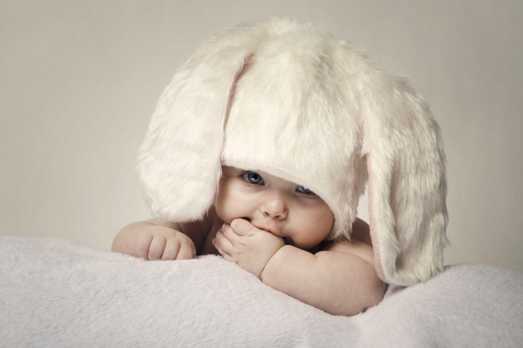 Hares Infants Winter hat Children wallpaper