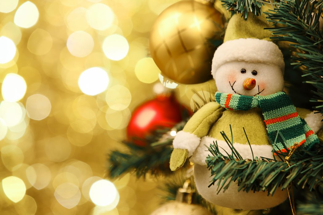 Holidays Christmas ( New year ) Toys Snowmen wallpaper