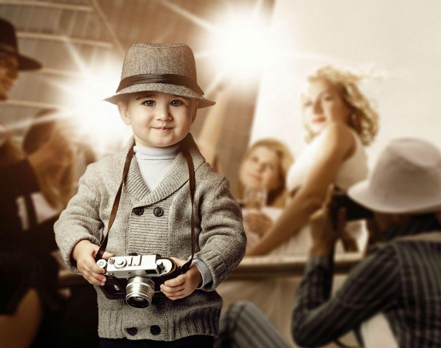 Children Boys Camera Costume Hat wallpaper