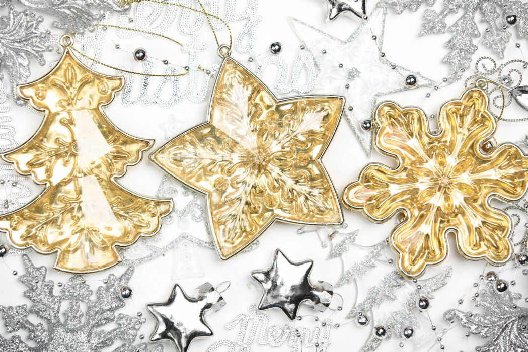 Holidays Christmas ( New year ) Toys Snowflakes wallpaper