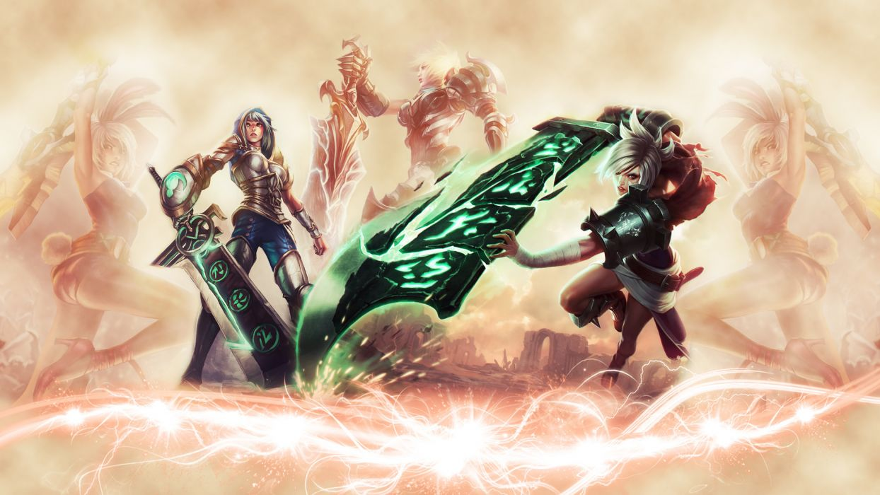 League of Legends Sword fantasy warrior wallpaper