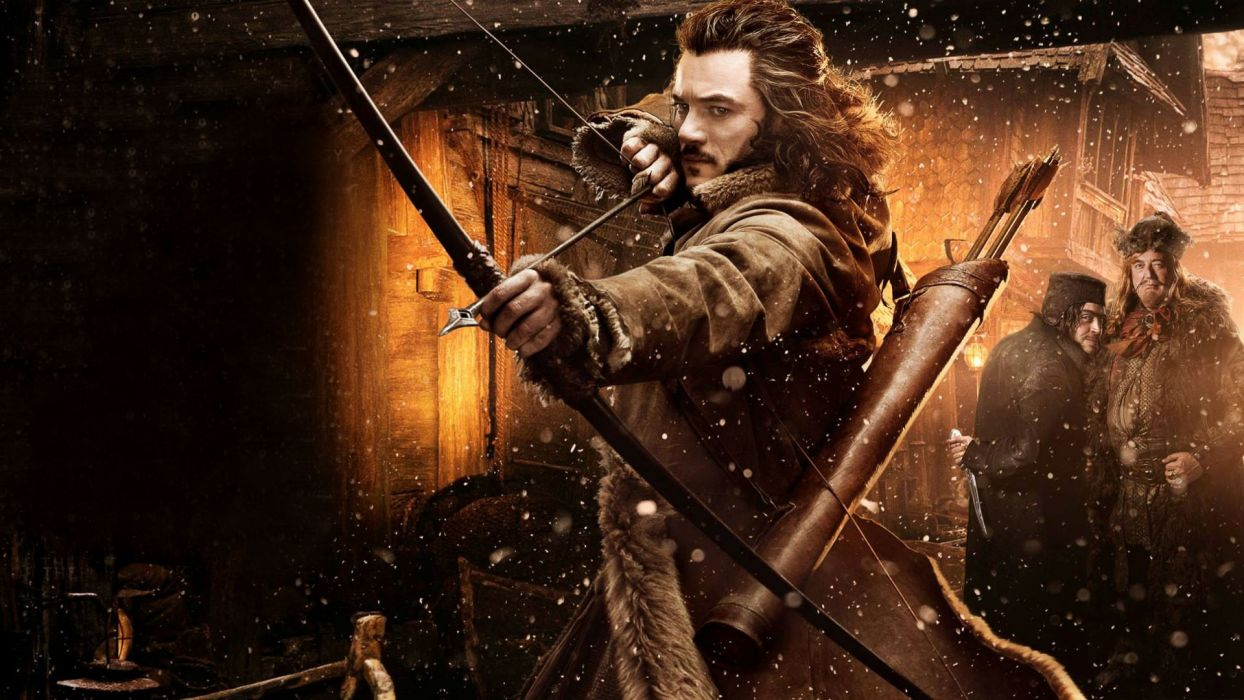 Lord of the Rings The Hobbit Bow Arrow Luke Evans Bard Girion fantasy warrior wallpaper