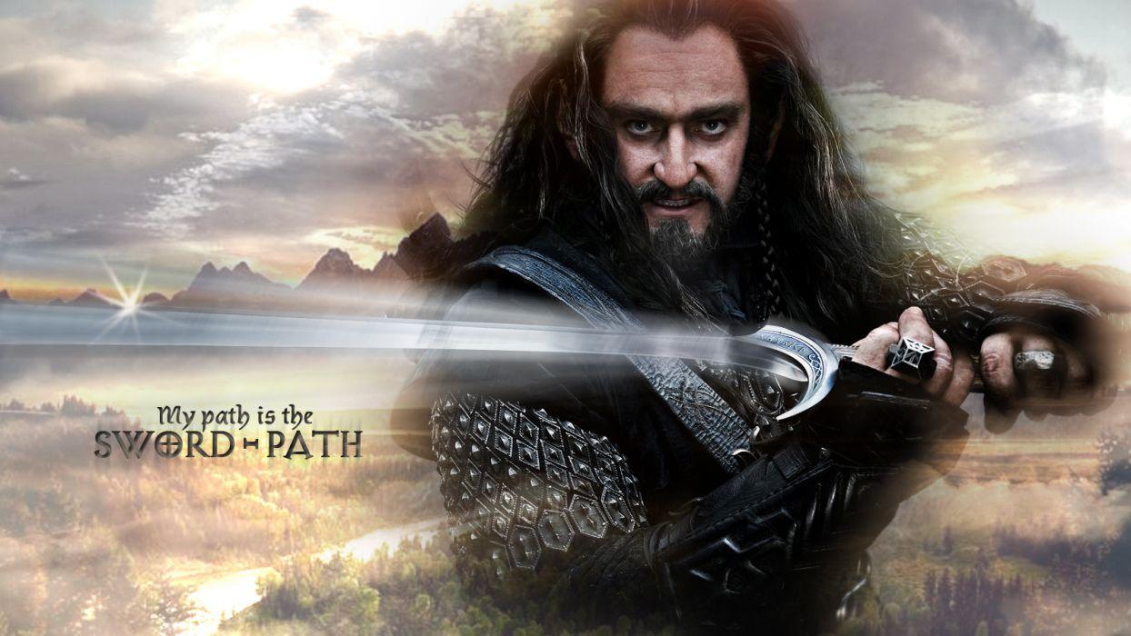 Lord of the Rings The Hobbit Sword Hobbit warrior fantasy wallpaper