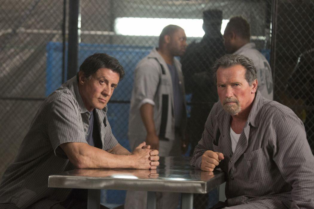 Men Arnold Schwarzenegger Sylvester Stallone Escape Plan film Movies Celebrities wallpaper