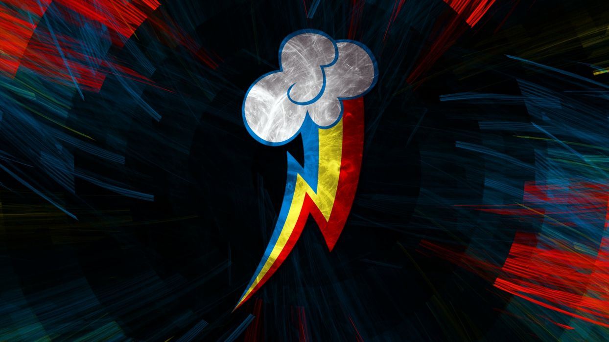 My little pony poster rainbow obloko lightning wallpaper