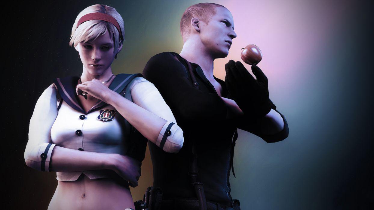 Resident Evil 6 Men Jake Muller Sherry Birkin Games 3D Graphics Girl wallpaper
