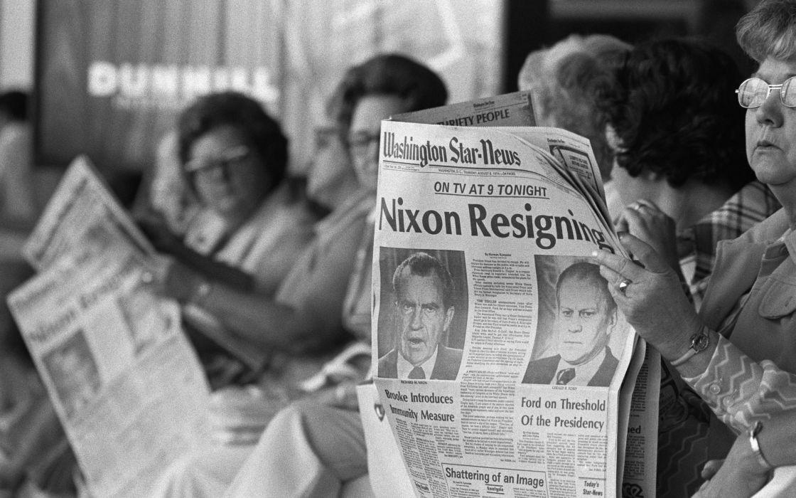 Richard Nixon BW Newspaper President wallpaper