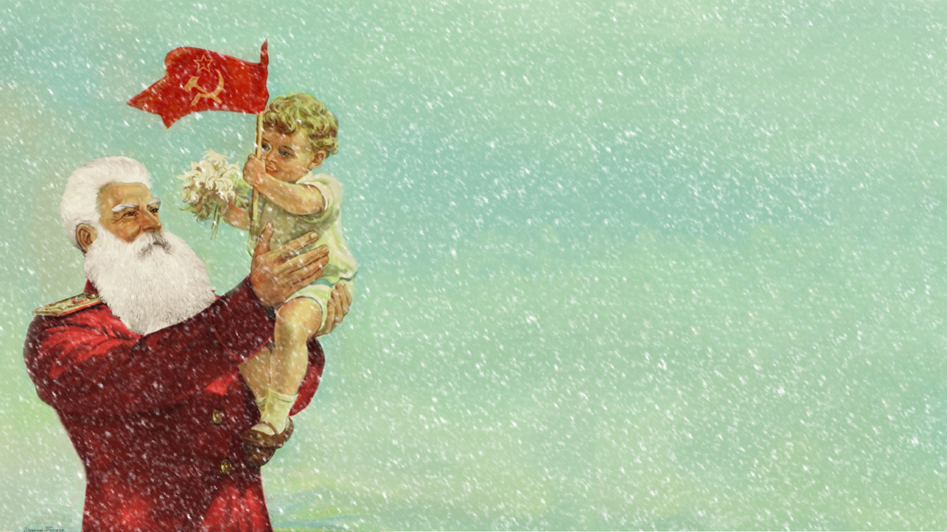 Santa Christmas Drawing Communist Baby Child wallpaper ...