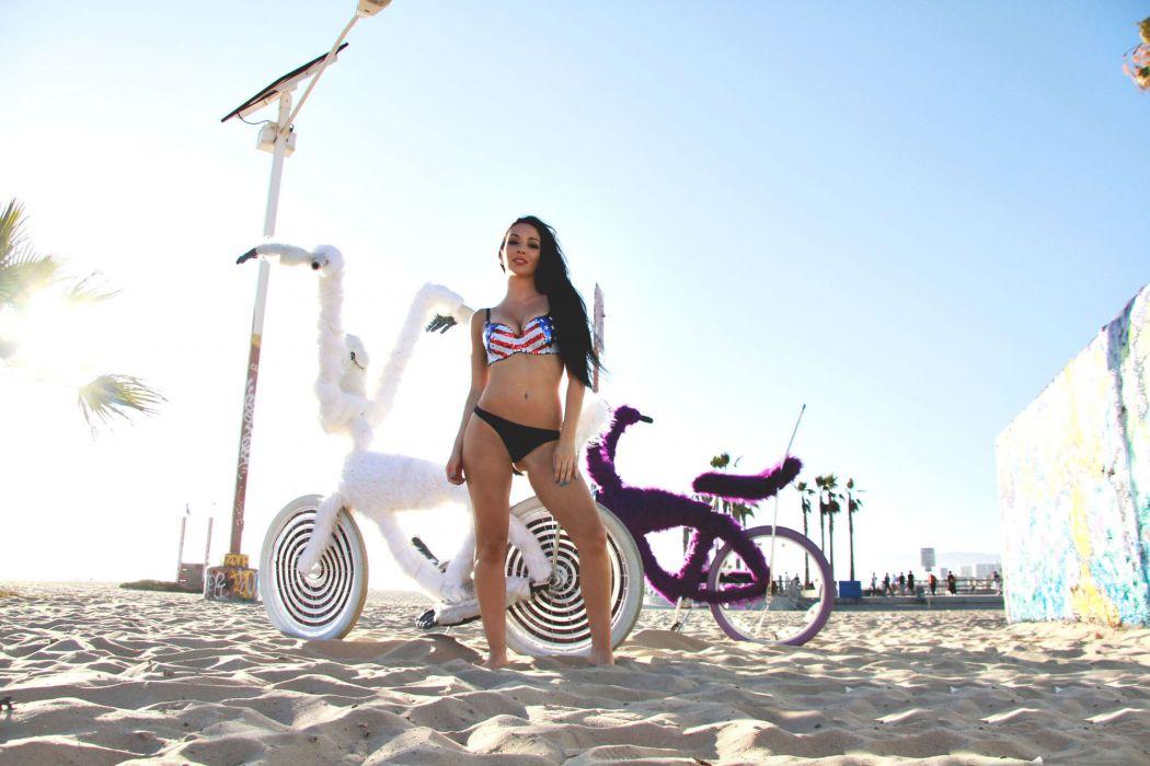 Shahira Barry bike beach sexy   t wallpaper