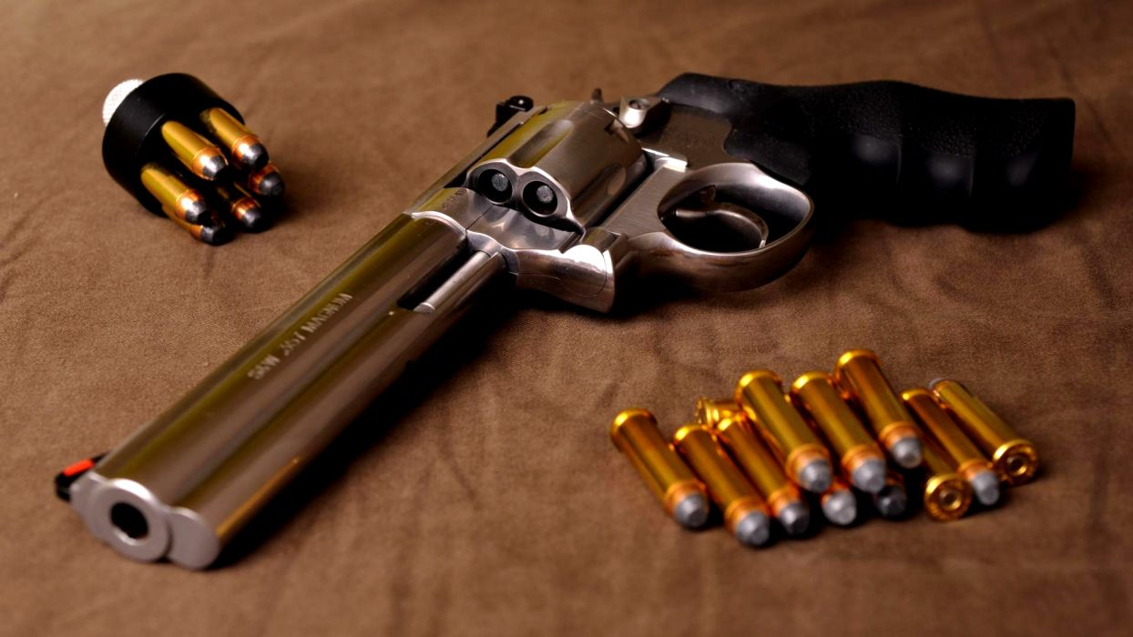 Smith & Wesson revolver ammunition weapons ammo weapon gun pistol wallpaper
