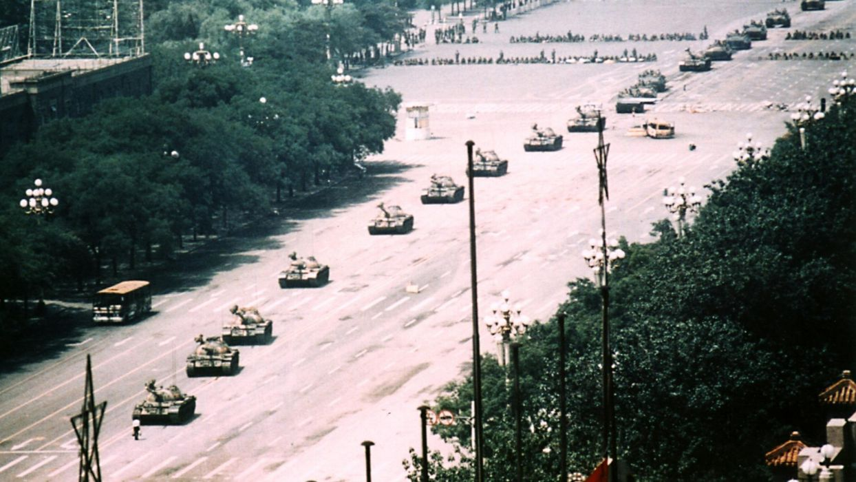 Tiananmen Square Tanks tank military china dark wallpaper