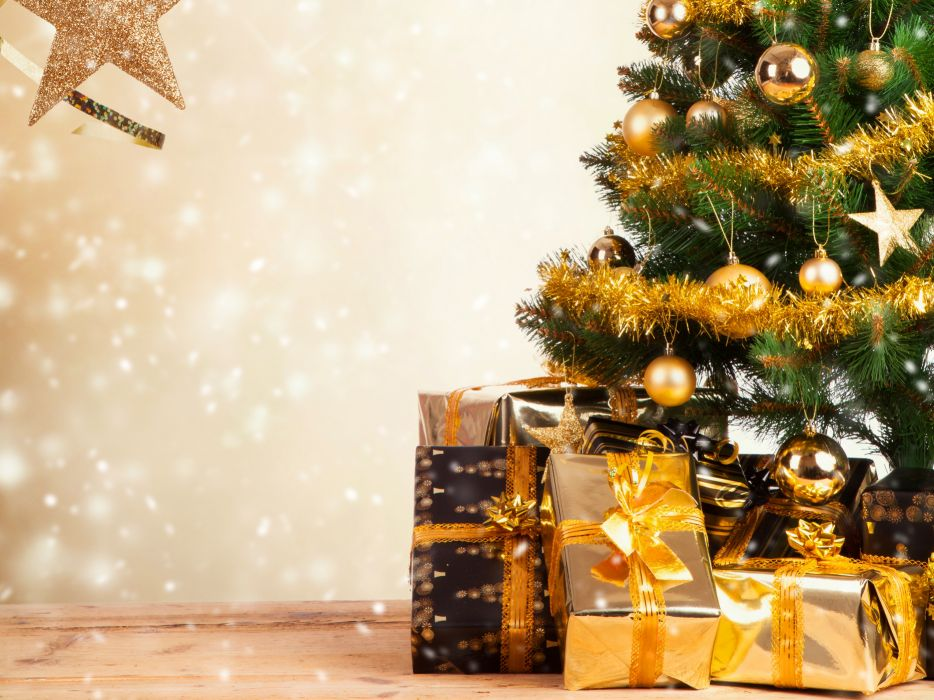 tree toys tinsel gifts boxes wallpaper