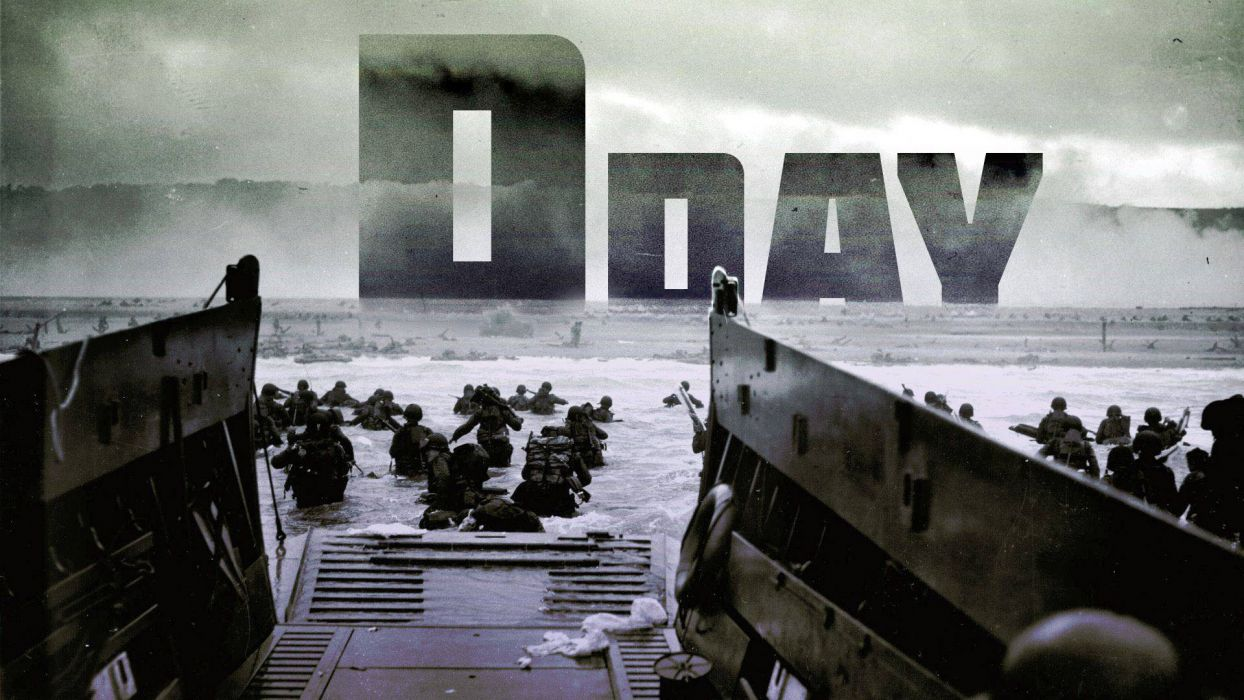 WWII D-Day Soldiers military battle wallpaper